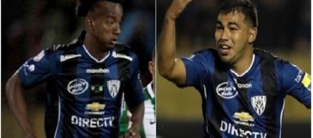 Orejuela (esquerda) e Sornoza: primeiros reforços do Fluminense para 2017 (Foto: Uol Esporte)