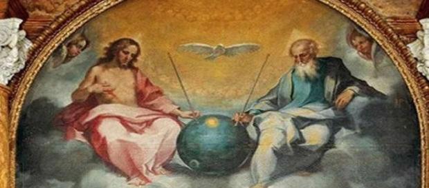 Pintura em igreja da Toscana mostra Deus e Jesus entre uma emblemática esfera (USD)
