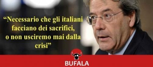 L'ultima bufala, quella riguardante il neo-premier Gentiloni, smascherata da Bufale.net