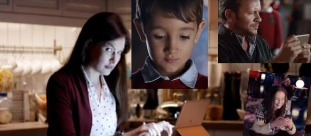 Huawei Werbung: Alle online - und niemand will Weihnachten feiern! / Fotos: Huawei; LH/TBWA