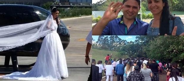 Noiva estava a caminho do casamento