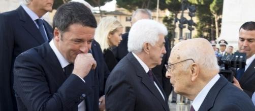 Matteo Renzi e il presidente emerito Giorgio Napolitano