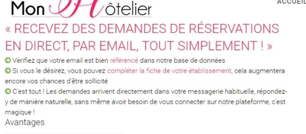 L'argumentaire du site MonHotelier à l'intention des hôteliers