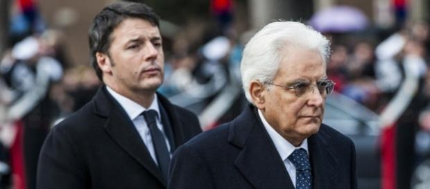 Matteo Renzi e Sergio Mattarella (Foto: OkMugello.it)
