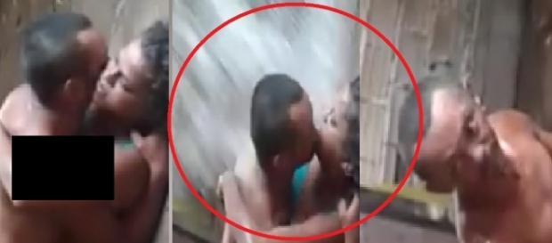 Vovô e novinha são flagrados em ato íntimo - Imagem/Youtube