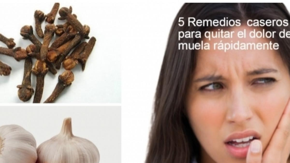 remedios caseros para aliviar rapido el dolor de muela