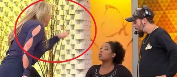 Christina Rocha surta durante programa - SBT