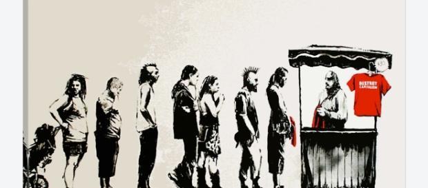 Destroy Capitalism Art Print by Banksy   iCanvas - icanvas.com