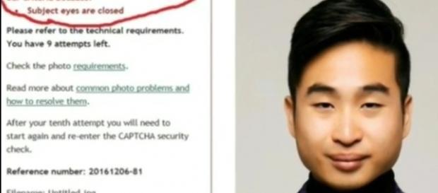 Software alegou que Richard Lee estava com os olhos fechados nesta imagem (Crédito: YouTube/twoface)