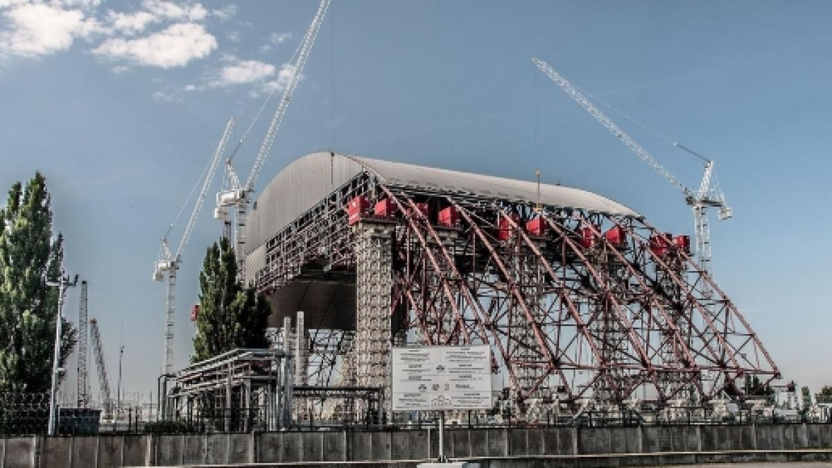 Chernobyl - final New Safe Confinement (NSC) nuclear reactor