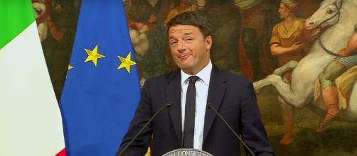 Il premier dimissionario Matteo Renzi