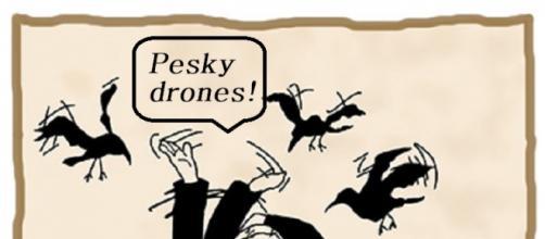 Drones flying over Super Bowl 50