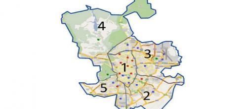 Las 5 zonas de la contaminación en Madrid.