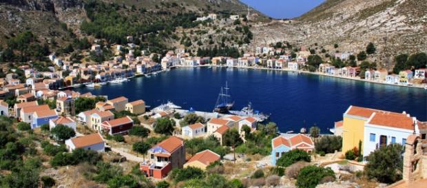 Kastellorizo, una città dell'isola di Samos.