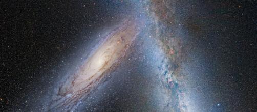 Via Láctea y Andrómeda. Espacio