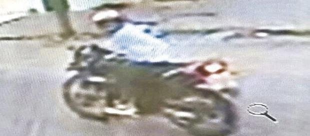 Bandido é flagrado com câmeras de segurança
