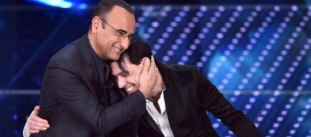 Ezio Bosso e Carlo Conti a Sanremo