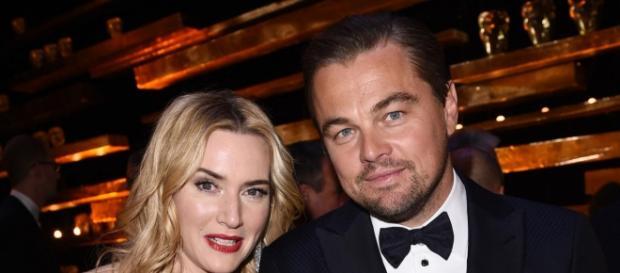 Los galardonados DiCaprio y Winslet