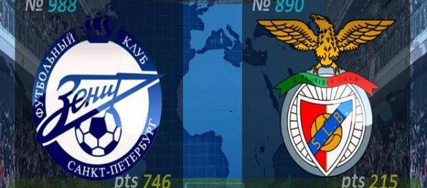 Zenit y Benfica se enfrentaran el próximo martes
