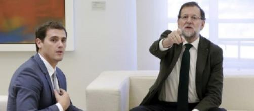 Imagen Albert Rivera y Mariano Rajoy