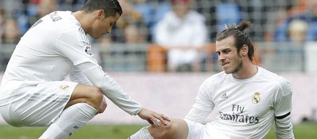 Bale se lesiona durante un partido