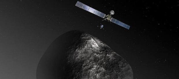 Sonda Rosetta y modulo Philae.