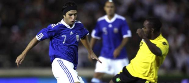 Toranzo, con la camiseta de Argentina.