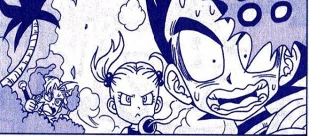 Vegeta y Bulma conociéndose de niños