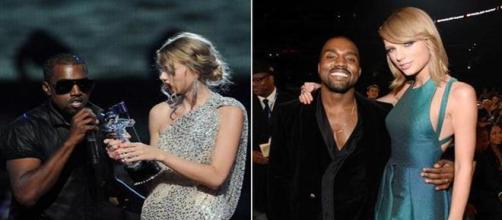 Kanye West e Taylor Swift ai Grammy Awards