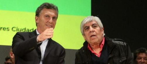 """Los """"gordos"""" con Moyano a la cabeza """"Pro"""" Macri"""