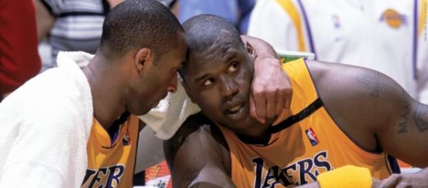 Kobe Bryant e Shaquille O'Neal nos anos 2000.