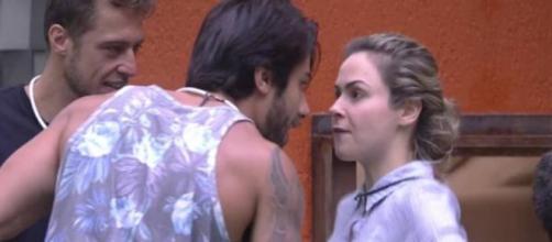 Ana Paula e Renan: muita briga no BBB16