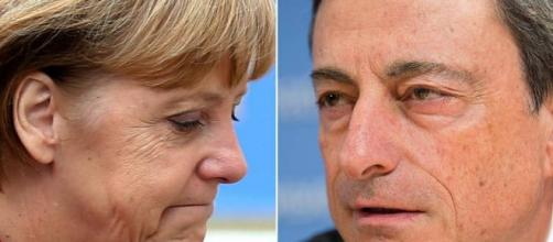 Angela Merkel (Germania) e Mario Draghi (Bce)