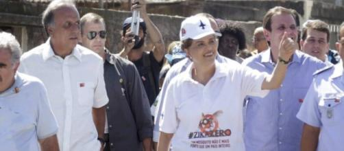 Em movimento contra vírus Dilma visita comunidade