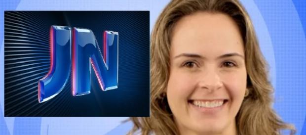 Ana Paula e o Jornal Nacional - Foto/Montagem