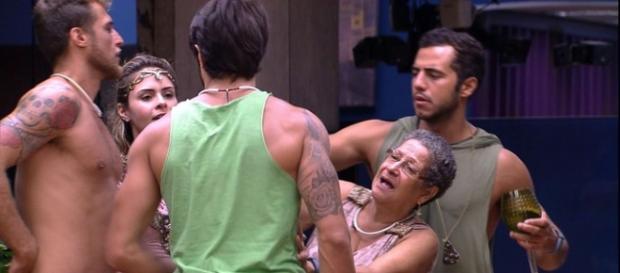 Briga no BBB16 (Reprodução/Globo)
