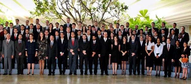 Diplomatas brasileiros reunidos em Brasília