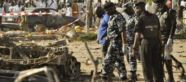 Imagen tras el doble atentado del Boko Haram