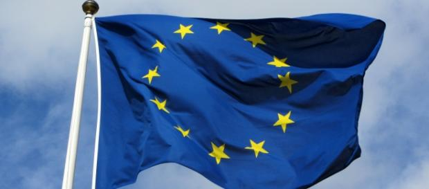 Official flag of the EU (Wikipedia)