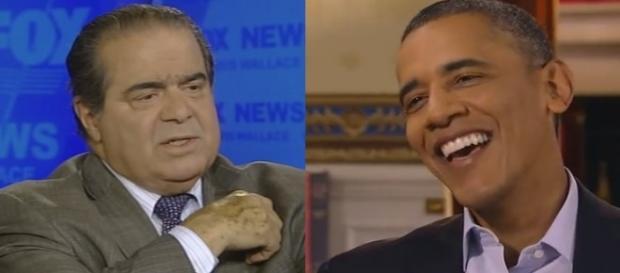 Pres. Obama, A. Scalia, via YouTube