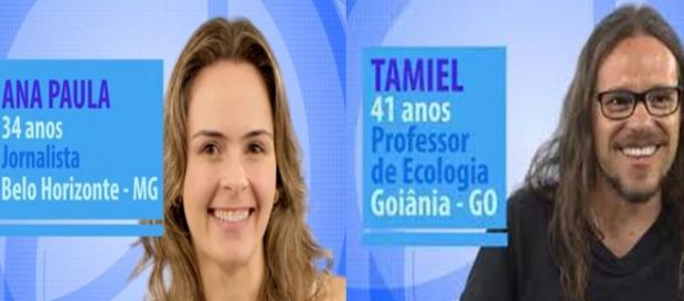 Ana Paula e Tamiel participantes do BBB 16