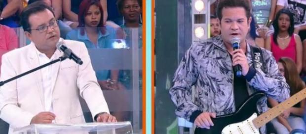 Chimbinha no 'Domingo Show' - Foto/Reprodução