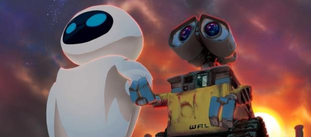 Eva y Wall-E, dos robots románticos