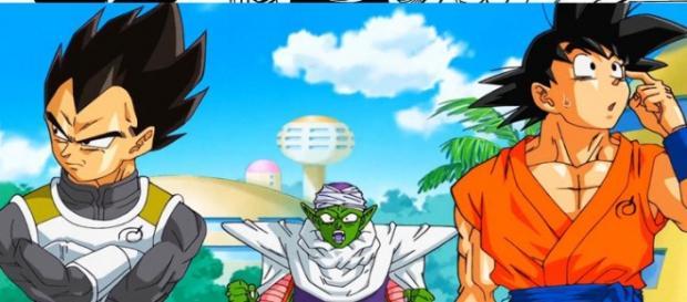 Piccolo, Goku y Vegeta, ¡piccolo sorprendido!