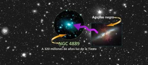 Agujero negro en la galaxia NGC 4889