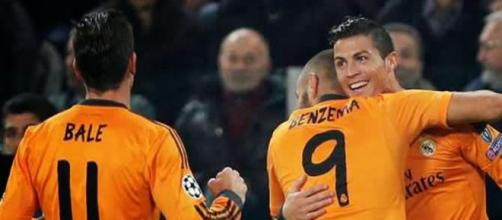 Bale, Benzema e CR7, o trio temível do Real Madrid