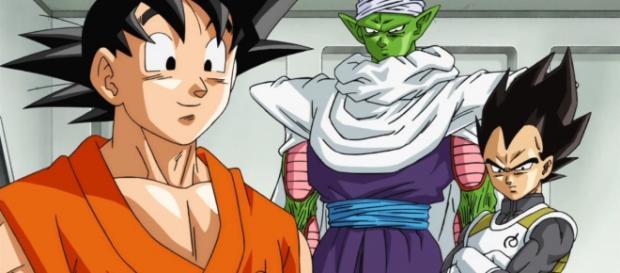 Goku, Piccoro y Vegeta en el ultimo capitulo
