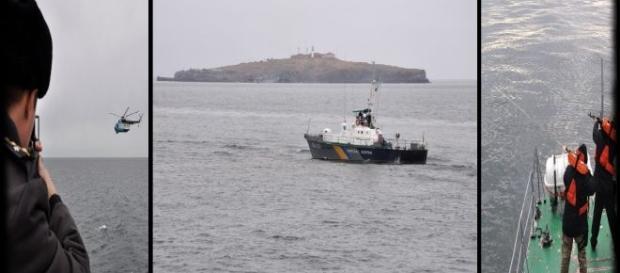 Insula Șerpilor plină de trupe cu armament greu