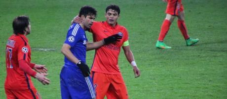 Diego Costa, Maxwell y Thiago Silva