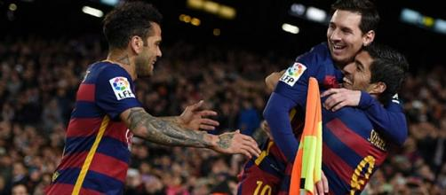 Messi Suárez i Dani Alves 2015